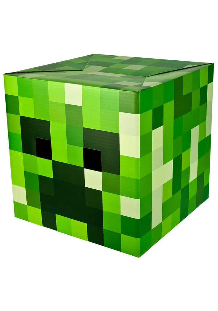 Minecraft Creeper - possible valentine box: Cardboard Masks, Minecraft Parties, Valentines Boxes, Head Cardboard, Birthday Parties, Kids Stuff, Minecraft Creepers, Creepers Head, Minecraft Costumes