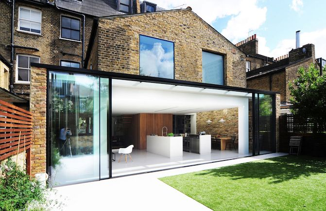 A really cool modern extension on a old house