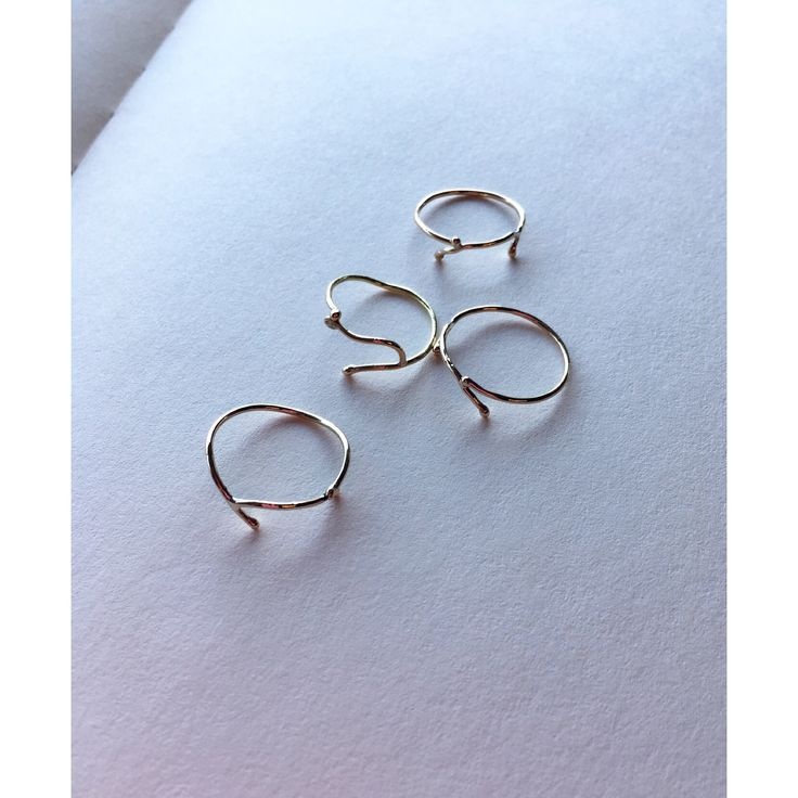 Zoëga gold rings - handcrafted and every ring is it's very own. @zoegajewellery