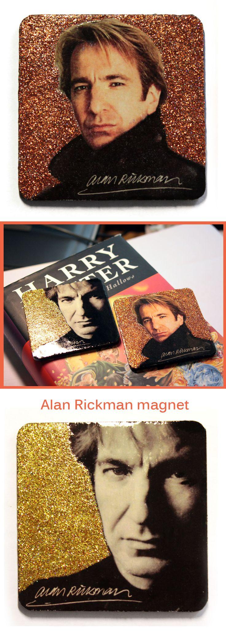 Alan Rickman art, Alan Rickman gift, fridge magnet. Handmade fanart Harry Potter, Severus Snape.