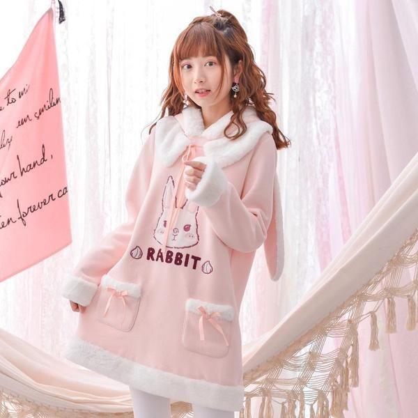28366f8b29 Japanese Kawaii Warm Winter Pink Rabbit Dress SD00968 - SYNDROME - Cute  Kawaii Harajuku Street Fashion Store