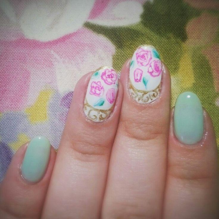 #ногти #фарфор #мятные #nails #shimonnails