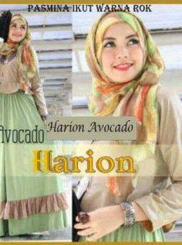 Baju Maxi Harion Avocado dan Pashmina R808, Ready Stok, Untuk pemesanan dan informasi silahkan hubungi admin di SMS/WhatsApp: 085259804804