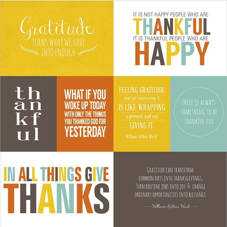 Giving Thanks Quotes And Sayings: Give Thanks Printable Quotes Collection