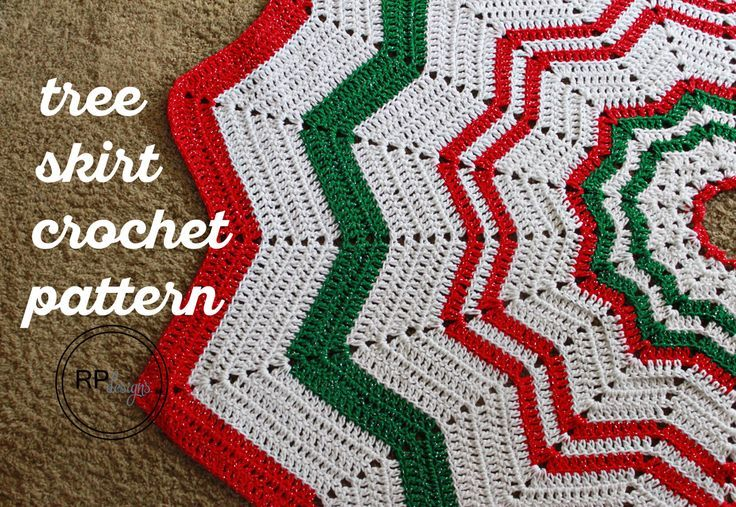 Easy Knitting Pattern For Christmas Tree Skirt : Beste afbeeldingen over holidays christmas op