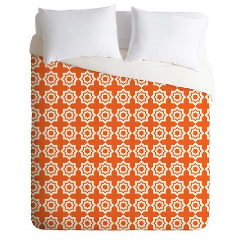 Khristian A Howell Moroccan Mirage Orange Duvet Cover | DENY Designs Home Accessories