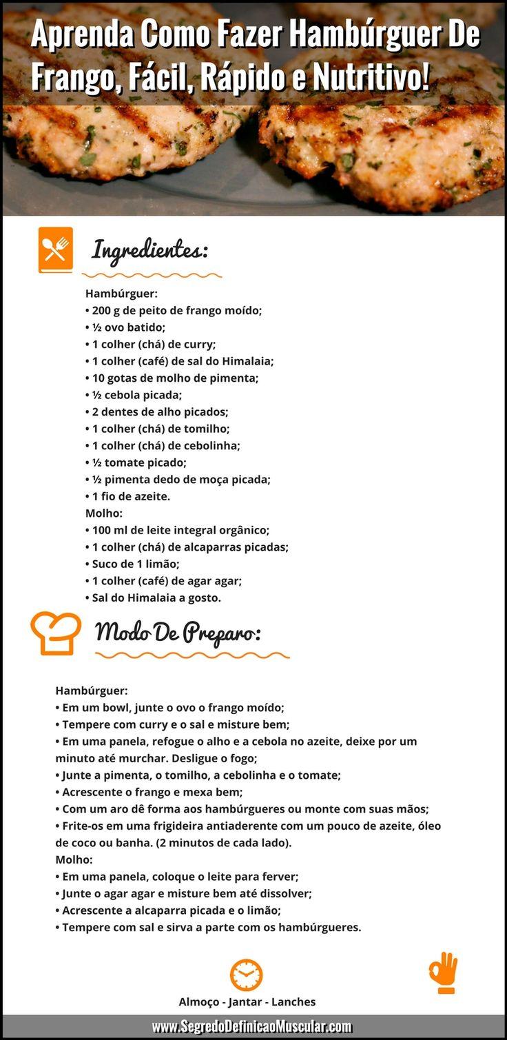 Receita De Hambúrguer De Frango