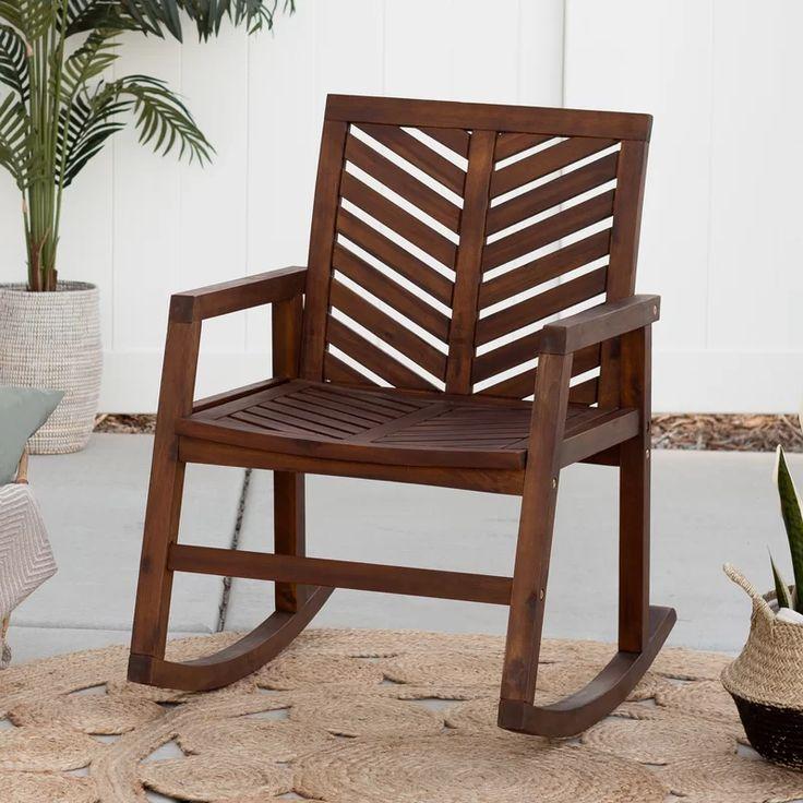 Breakwater bay skoog outdoor chevron rocking chair