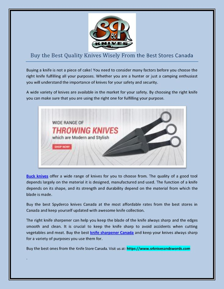Buy the Best Quality Knives Wisely from the #Best_Stores_Canada