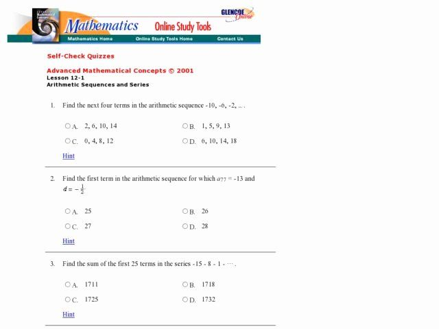 Arithmetic Sequences And Series Worksheet Best Of Sequences And Series Lesson Plans Worksheets Word Problem Worksheets Arithmetic Sequences Sequence Writing