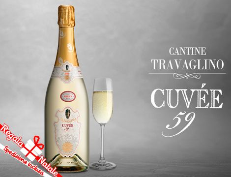 Cuvée 59, uno spumante prodotto con uve Chardonnay e Pinot Nero affinate in barriques. Un prodotto elegante e dal fascino intenso e suadente. Scegli la quantità.  6 bottiglie a 95,90€, spedizione inclusa.