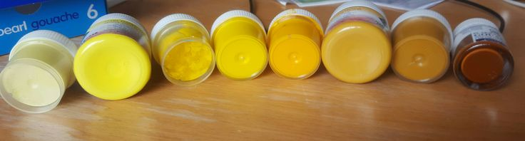 yellow to brown @ Talens (402 deep brown) @ Master Class (strontium yellow + ochre light) @ луч (охра + желтая светлая + желтая темная + перломутровая) @ фантазия желтая светлая)
