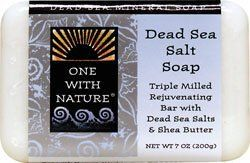 Soap Dead Sea Salt - 7 oz - Soap by One With Nature. Save 23 Off!. $3.45. One With Nature. More than 1300 feet below sea level, the shores of the Dead Sea mark the worlds lowest elevation and the sight of one of natures greatest wonders. Soap Dead Sea Salt by One With Nature 7 oz Soap Dead Sea Salt Soap (7 oz) More than 1300 feet below sea level the shores of the Dead Sea mark the worlds lowest elevation and the sight of one of natures greatest wonders. Fed by the River Jordan the Dead Seas…