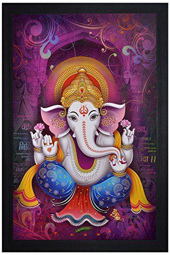SAF Special Effect Textured Ganesha Painting (SANFO38, 30 Cm X 3 Cm X 45 Cm)
