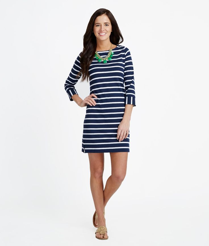 Women's Dresses: Nautical Stripe Knit Dress for Women - Vineyard Vines