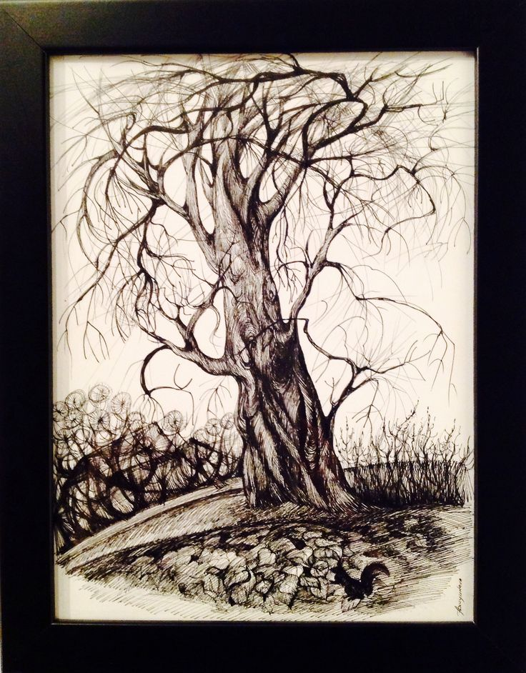 We love 'Autumn Dancing Tree', just one of a number of detailed pen and ink sketchs by Anna Duyunova