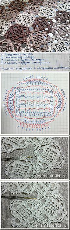 Granny pattern Универсальный квадратный мотив   Умелые ручки