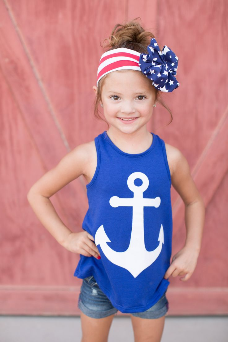 KIDS - From Sea to Shining Sea Tank - Royal from Closet Candy Boutique