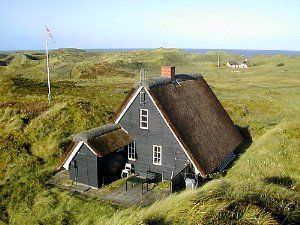 Old fishermans house, now a summer house at the westcoast of Denmark