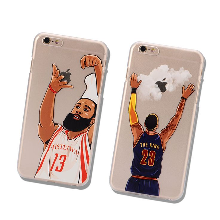 NBA phone case hard PC phone back cover james harden michael jordan lebron james phone cover coque for iphone 6 6s 5 5s 7 plus