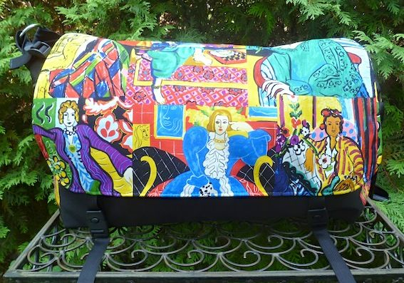 Impressionist Paintings Panther Deluxe Messenger Bag by Zoe's Bag Boutique