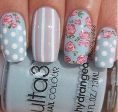 Image result for cath kidston hydrangea nails