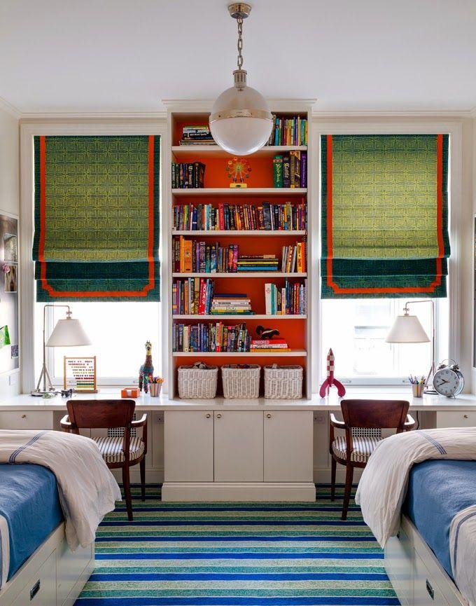 Shared Boys Geometrical Bedroom: 33 Best Boy's Room Window Treatments Images On Pinterest
