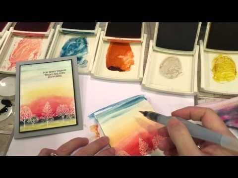 Friday Quickie Techniques and Tips: Watercolored Sky Backgrounds - The Creativity Cave