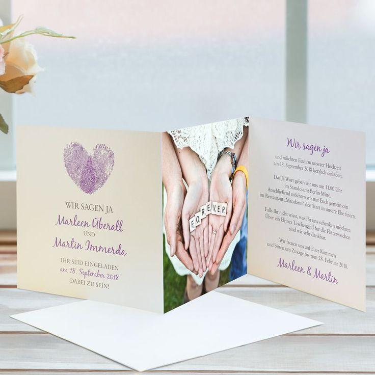 die besten 25+ rustikale lila hochzeit ideen auf pinterest, Einladung