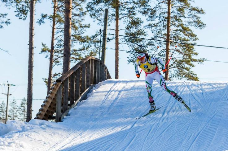 15.03.2015, Kontiolahti, Finland (FIN): Darya Domracheva (BLR) - IBU world championships biathlon, Women Mass Start, Men, Kontiolahti (FIN),