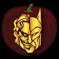 Joker and Batman CO - Stoneykins Pumpkin Carving Patterns and Stencils
