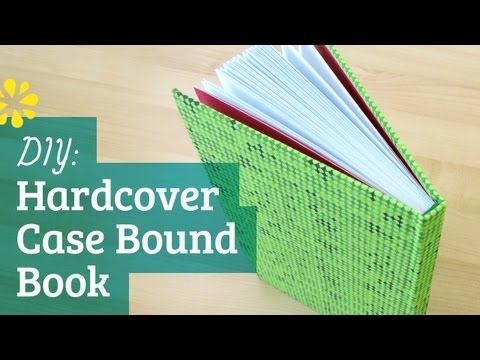 Good book binding tutorial, try a test one to get some practice. ▶ How to Make a Hardcover Book: Case Binding - YouTube