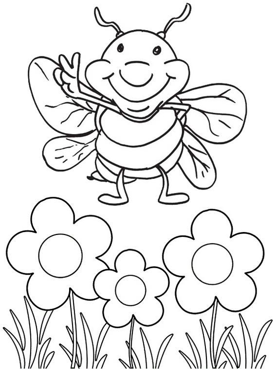 Read Morecicada Cartoon Smiling Coloring Page Coloring Pages For