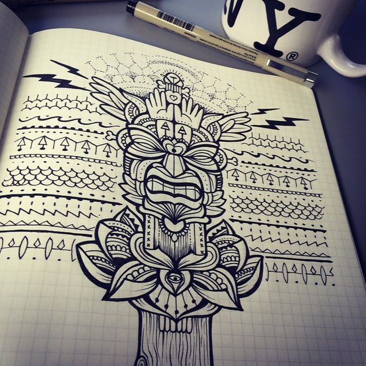 #bleunoirtattoo #jeykilltattoo #tiki #tattoo