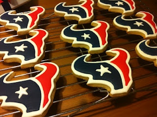 Texans cookies---I need this cookie cutter.