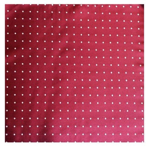 #CrimsonRedPolka Dot Pocket Square - This exquisitely crafted #PocketSquare will add that touch of character to complete your look. Classic white polka dots adorn this stylish crimson red pocket square, ensuring you stand out from the crowd. This would make a great gift for groomsmen, husbands, partners, friends or yourself!  #tie #cufflink