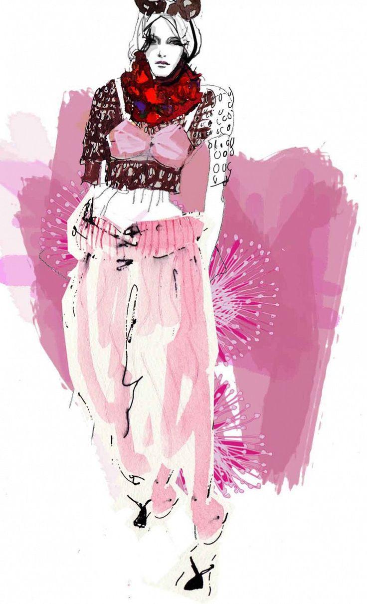 Francesca Waddell fashion illustration - Marc Jacobs