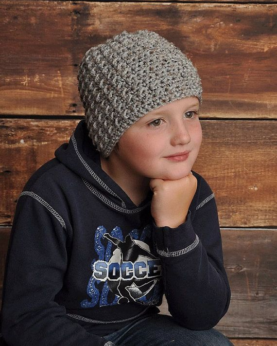 Boys Crochet Aidan Hat Beanie for Toddlers an d Children by Little Sweetheart Designs.  Other Sizes also available.