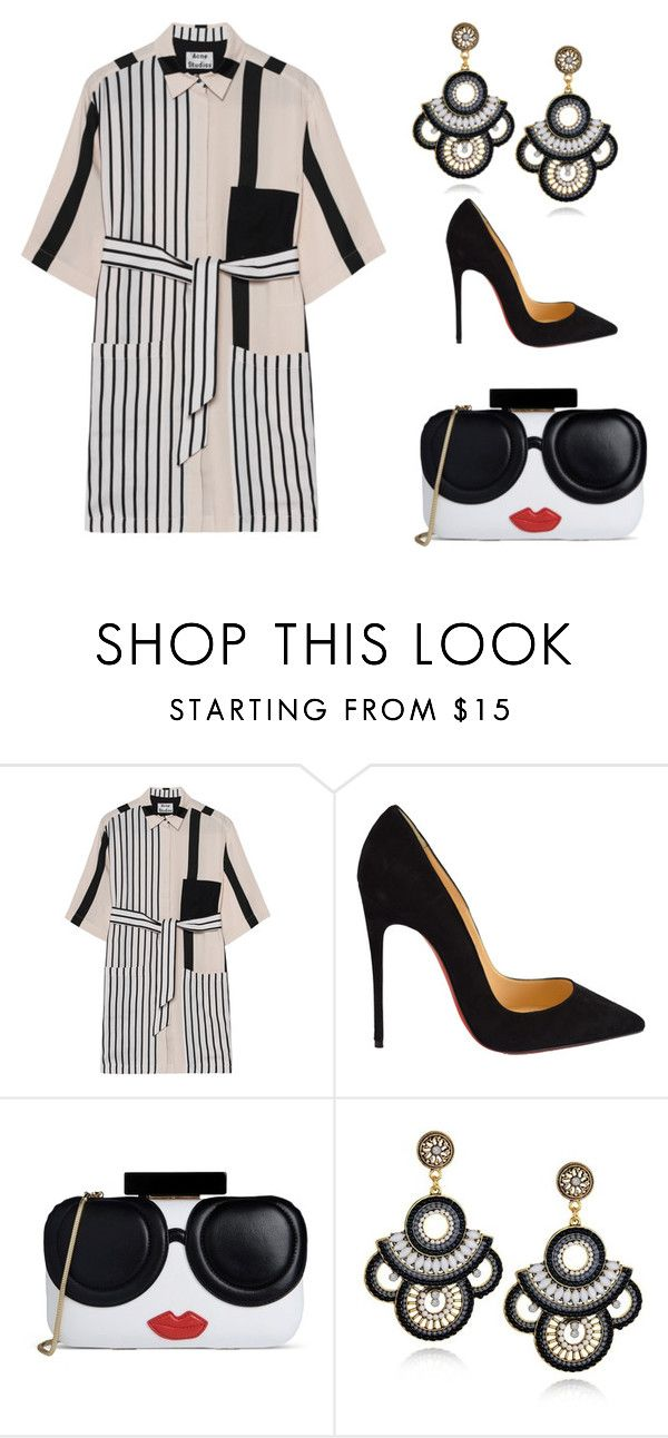 """All Striped Out"" by britscarike on Polyvore featuring Acne Studios, Christian Louboutin and Alice + Olivia"