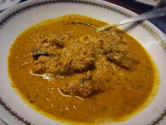 Creamy almond lamb curry   my version