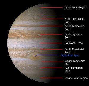 Cloud pattern on Jupiter in 2000.