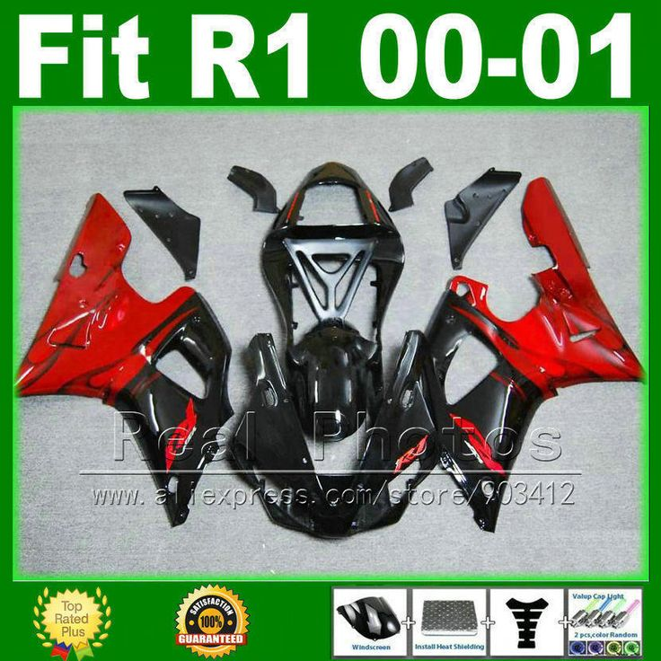 Full set Fairings fit for YAMAHA YZF R1 2000 2001 model Red black YZFR1 00 01 bodywork fairing kit parts R8M5 #Affiliate