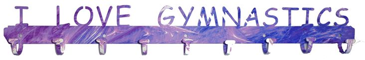 Medal Holder: I Love Gymnastics - love this