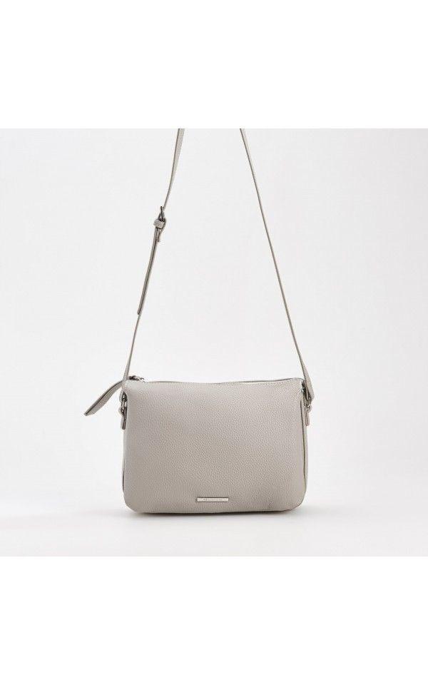 Satchel bag with adjustable strap, BAGS, grey, RESERVED