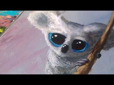 Cute Koala Timelapse Illustration Painting  Lately I've been painting a lot of furry animals with BIG eyes. This one is of a Koala.   If you want to adopt it : www.roomenrichment.com   Thank you for all the support!