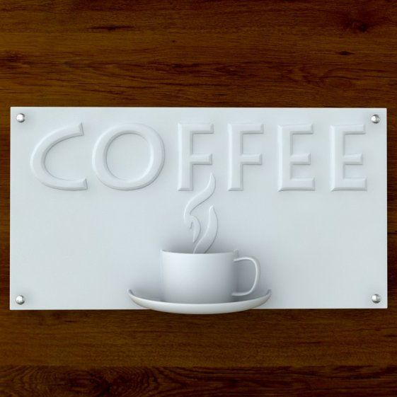 this is a printable  3d print ready coffee sign for cafe u0026 39   restaurant  food court  mall  airport