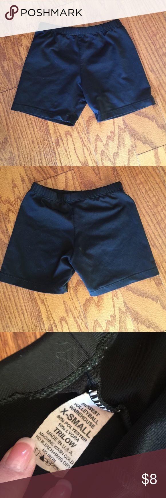 Midwest Volleyball Spandex Shorts EUC - worn once for dance competition. 90% polyester, 10% Lycra. No rips, snags or stains. Smoke free home. Shorts