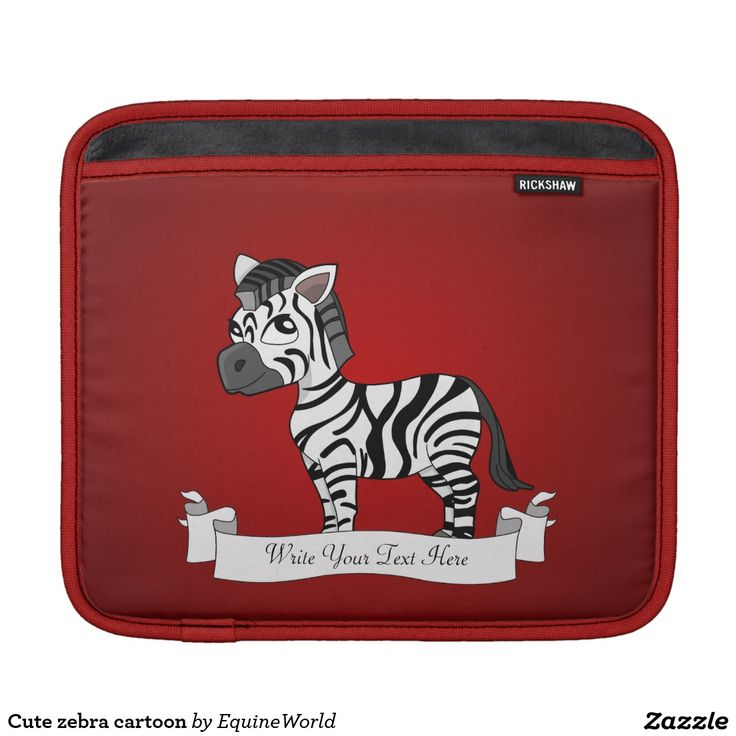 Cute zebra cartoon iPad sleeves