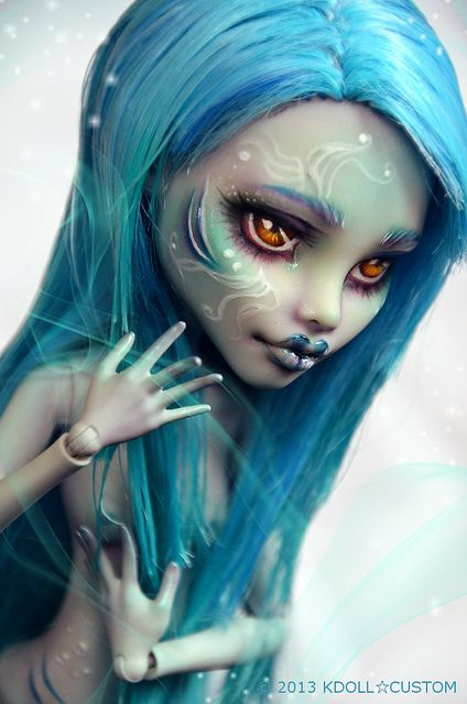 Monster High Ghoulia repaint - Mermaid | Flickr - Photo Sharing!