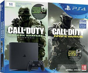 Console PlayStation 4 1 To Noir + Call of Duty : Infinite Warfare + Modern Warfare Remastered – Edition Legacy [jeux en téléchargement]